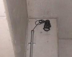 駐輪場に防犯カメラ